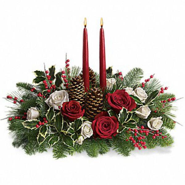 Votre Centre De Table Souhait De Noël Classique Est Devenu